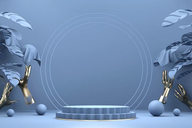 Abstrakcyjny minimalny etap wyświetlania produktu w tle, renderowanie 3d.