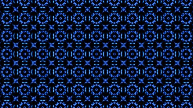 Abstrakcyjny niebieski geometryczny bezszwowy wzór tło premium zdjęcia