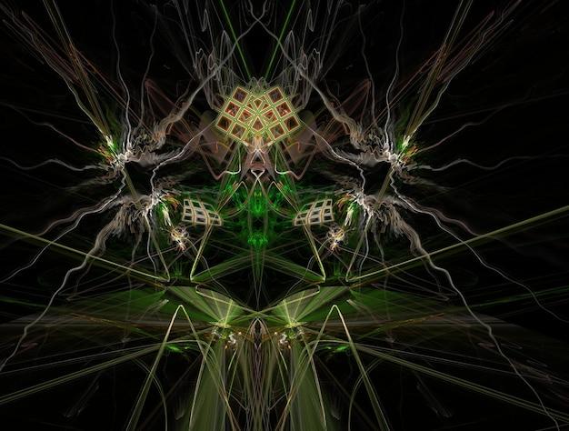 Abstrakcyjny obraz fraktali wyobraźni