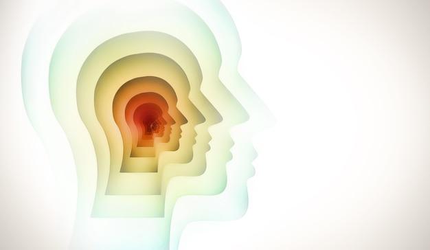 Abstrakcyjny obraz pojęciowy ludzkiego umysłu.