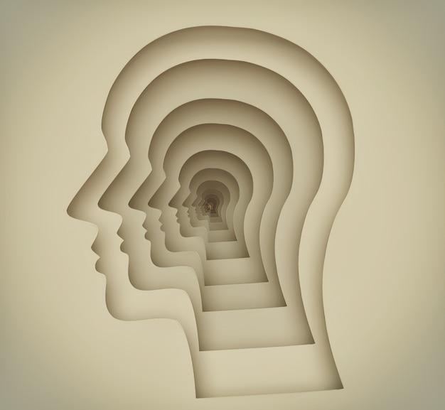 Abstrakcyjny obraz pojęciowy ludzkiego umysłu