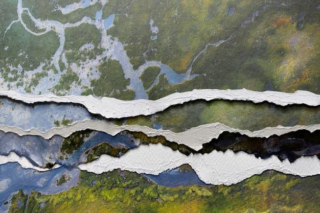 Abstrakcyjny obraz w stylu rozdartego papieru