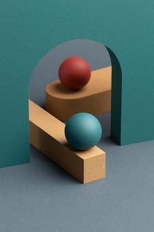 Abstrakcyjny układ elementów projektu 3d