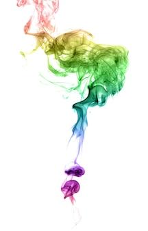 Abstrakcyjny wielobarwny dym na jasnym tle