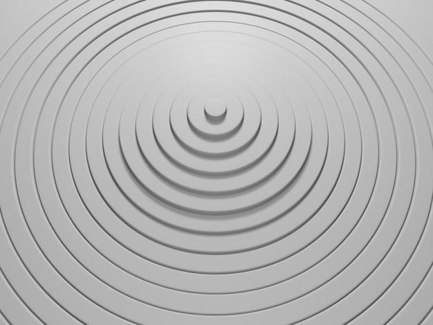 Abstrakcyjny wzór kół z efektem przemieszczenia białe tło czystych pierścieni
