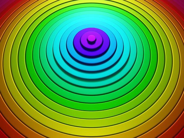 Abstrakcyjny wzór kół z efektem przemieszczenia kolorowe pierścienie tęczowe tło