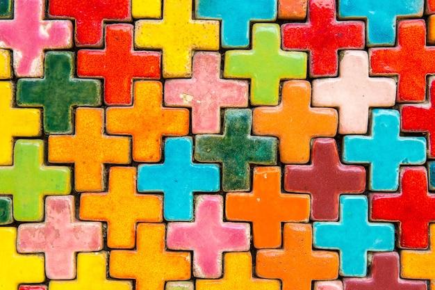 Abstrakcyjny wzór kolorowe mozaiki