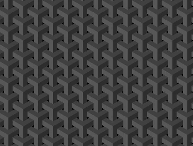 Abstrakcyjny wzór kostki czarny