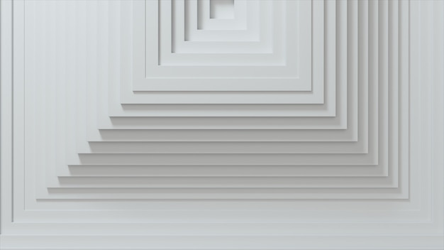 Abstrakcyjny wzór kwadratów z efektem przesunięcia. białe puste kostki.