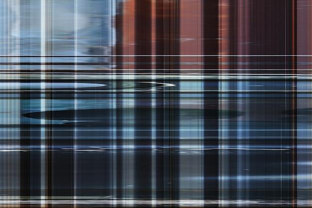 Abstrakcyjny wzór niebieskie i brązowe paski do projektowania tła, dźwięk technologii na tle.