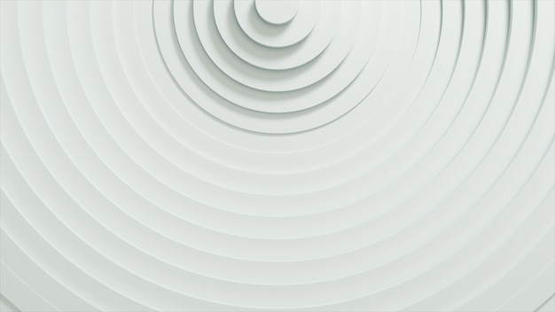 Abstrakcyjny wzór okręgów z efektem przemieszczenia. białe puste pierścienie.