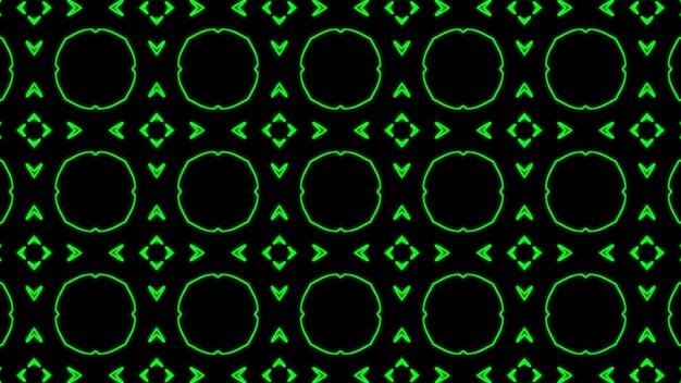 Abstrakcyjny zielony geometryczny bezszwowy wzór tło premium zdjęcia