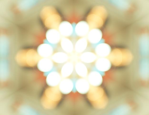 Abstrakt lekki kalejdoskop, tekstury tło, bokeh oświetlenie, psychodeliczna sztuka