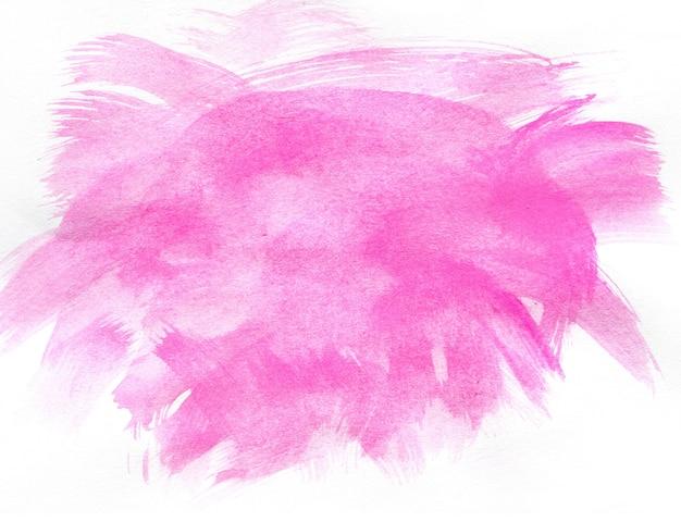 Abstrakt różowa akwarela na białym tle