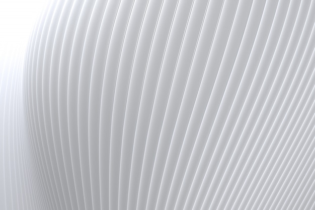 Abstrakt ściany fala architektury biały tło, biały tło dla prezentaci, portfolio, strona internetowa