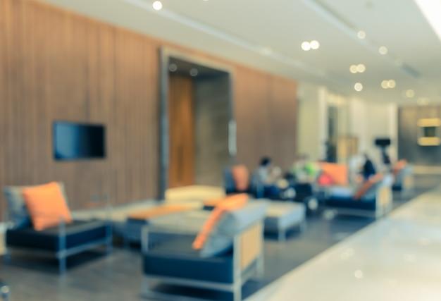 Abstrakta hotelowy zamazany wewnętrzny lobby