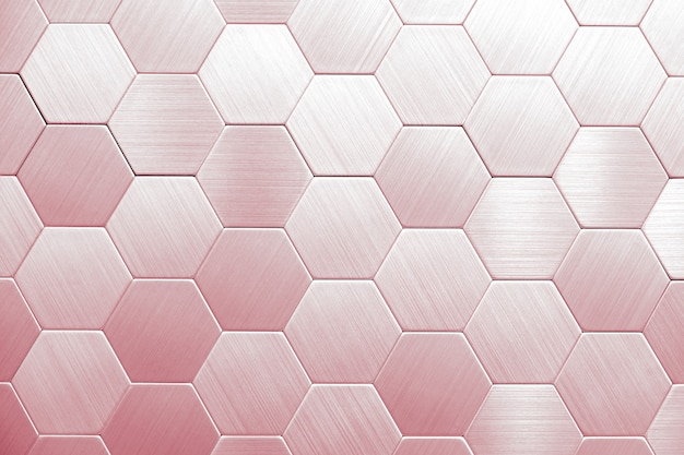 Abstrakta srebny metalu tło. geometryczne sześciokąty.