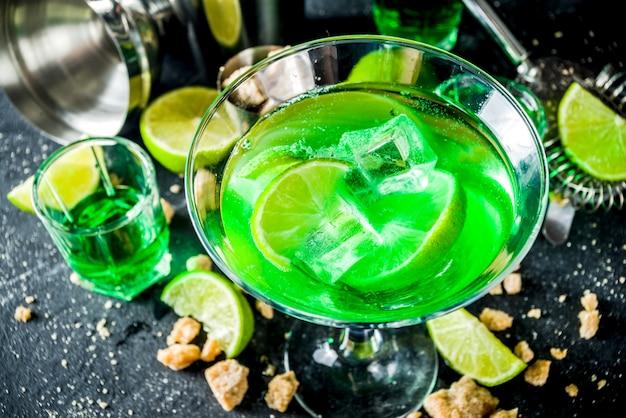 Absynt i wódka martini