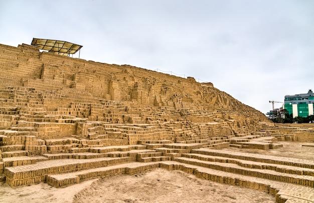 Adobe piramida huaca pucllana w limie peru