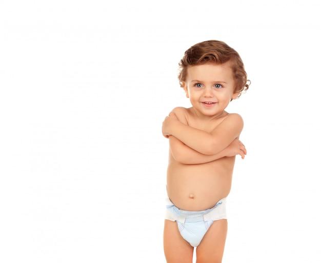 Adorable baby noszenia pieluszka