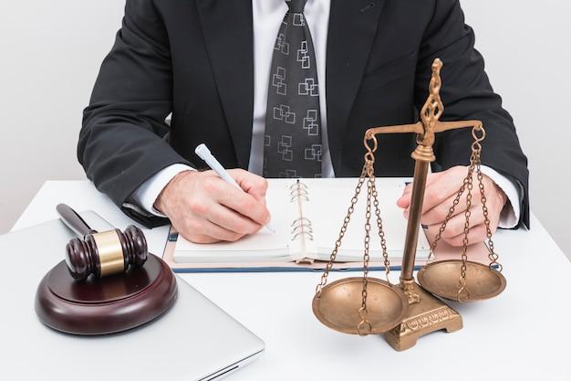 Adwokat dodając terminy