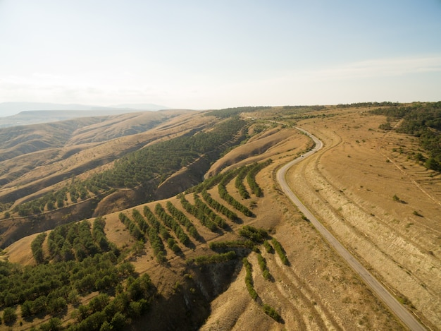 Aerial krajobrazu na krymie
