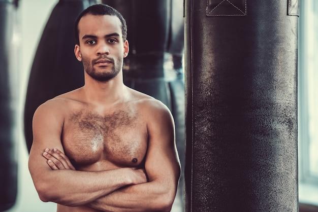 Afro amerykański bokser
