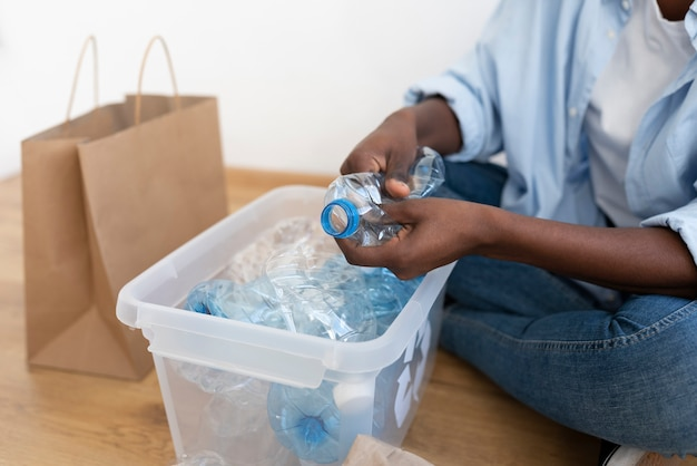 Afroamerykanka recykling dla lepszego środowiska