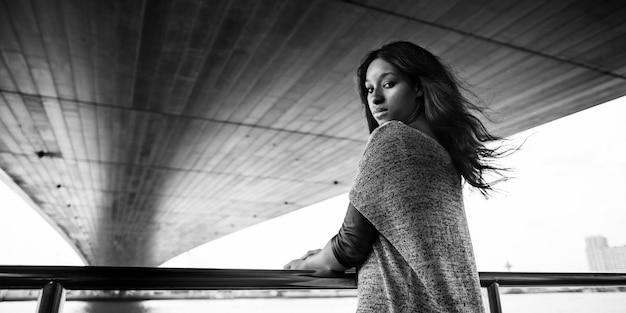 Afroamerykańska sesja mody kobiet