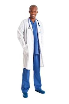 Afrykanin lekarka odizolowywająca na bielu