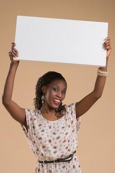 Afrykański kobieta znak
