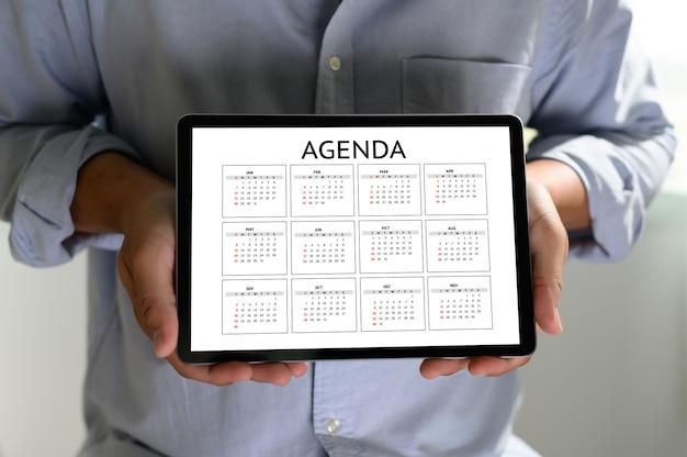 Agenda informacje o aktywności kalendarz wydarzenia i spotkanie spotkanie