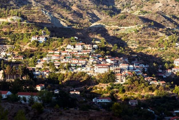 Agros, tradycyjna górska wioska. cypr, okręg limassol