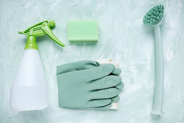 Akcesoria do czyszczenia kuchni i rękawiczki