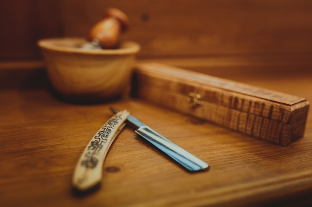Akcesoria do golenia na luksusie