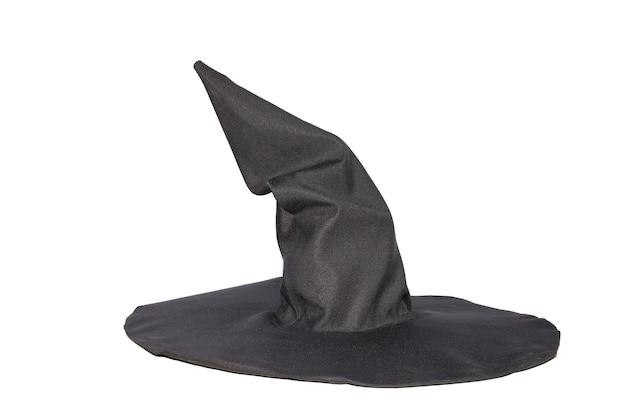 Akcesoria na halloween, czarny kapelusz wiedźmy