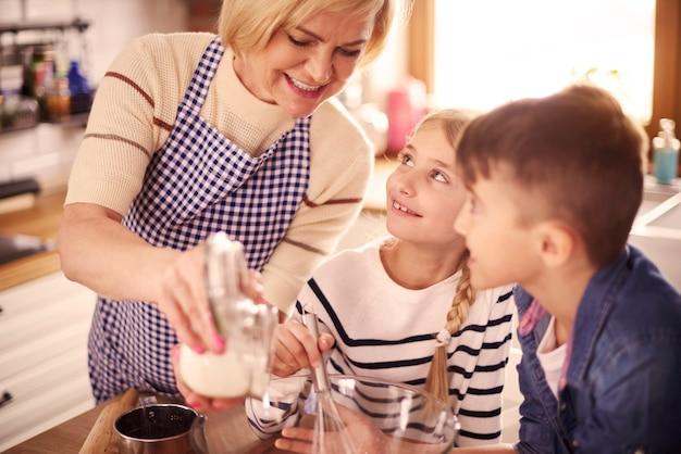 Akcja pieczenia w kuchni
