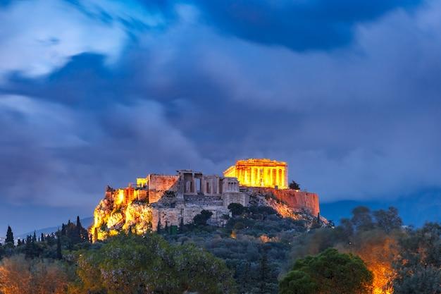 Akropol i partenon w atenach, grecja
