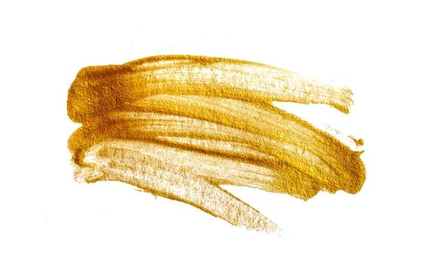 Akrylowy złoty pędzel na białym
