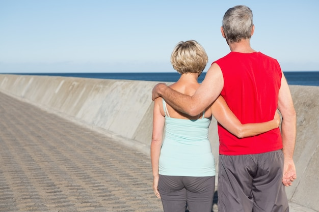 Aktywny senior para na jogging