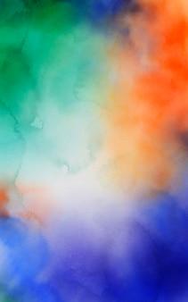 Akwarela abstrakcyjne tło kolorowe plamy farby