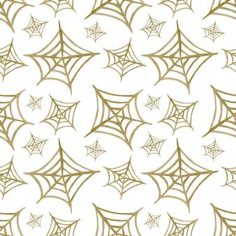 Akwarela bezszwowe tło wzór pajęczyna