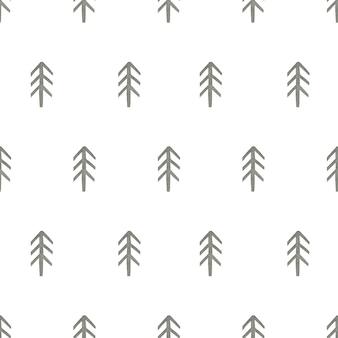 Akwarela bezszwowe wzór jodły w stylu skandynawskim