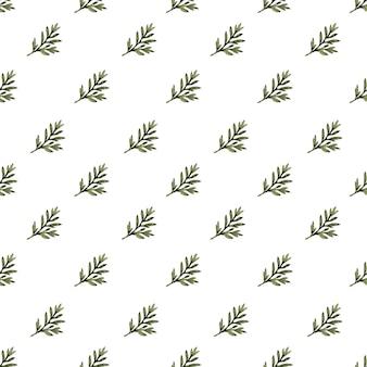 Akwarela bezszwowe wzór z stylizowane rośliny piołunu
