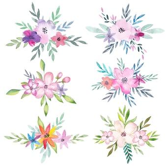 Akwarela bukiety kwiatowe