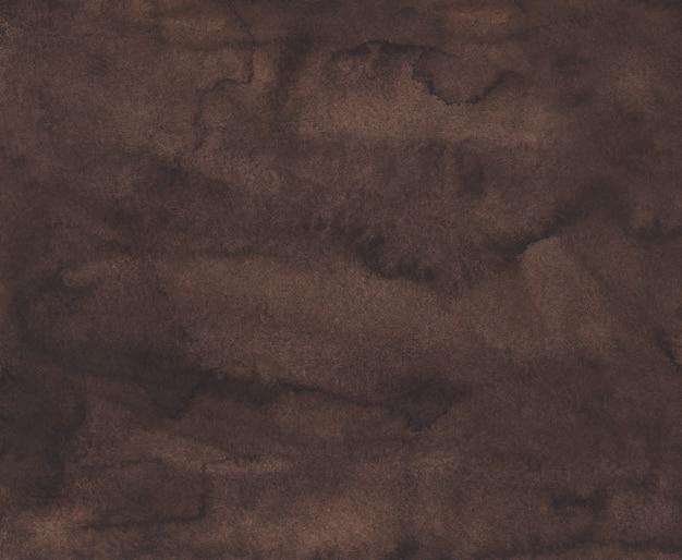 Akwarela ciemnobrązowe tło tekstura