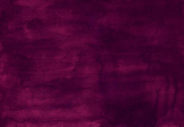 Akwarela ciemny fiolet kolor tła tekstury, ręcznie malowane. stare akwarela głębokie fioletowe tło. brudna nakładka na płyn.