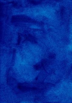 Akwarela ciemny lazurowy niebieski obraz tekstury tła.