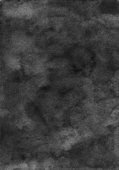Akwarela czarne i szare tło tekstura. akwarela streszczenie stare tło monochromatyczne