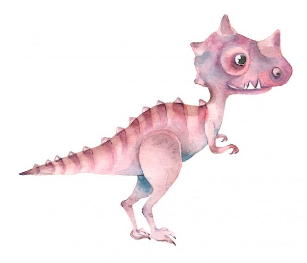 Akwarela dinozaurów tyranozaura